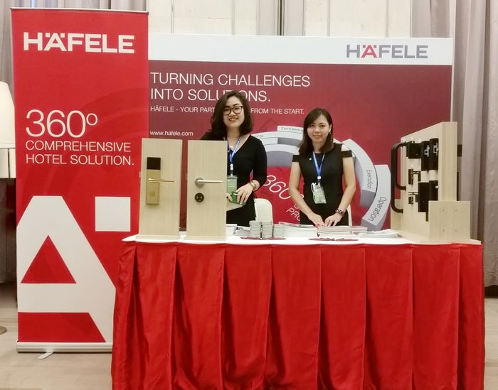 Häfele's exhibition booth at 2017 Indochina