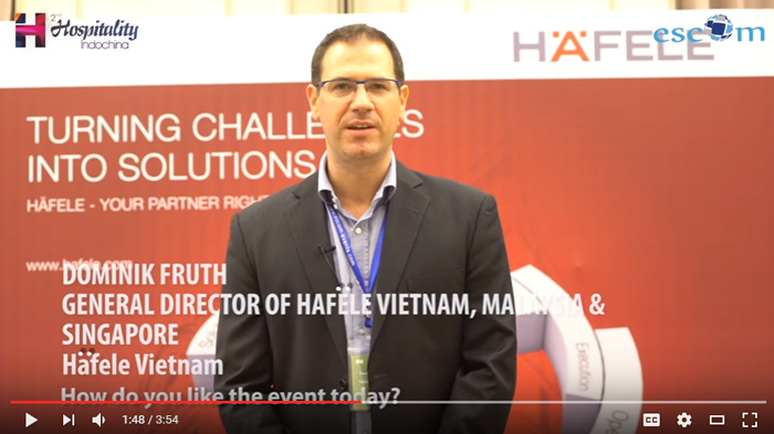 Mr. Dominik Fruth, General Director of Häfele Vietnam, Malaysia & Singapore in an interview with event organizer Escom