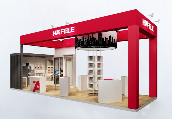Häfele's booth at Food & Hotel 2017