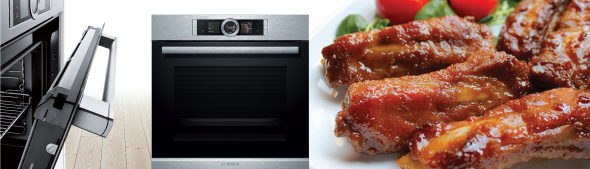 make honey glazed ribs with bosch series 8 ovens