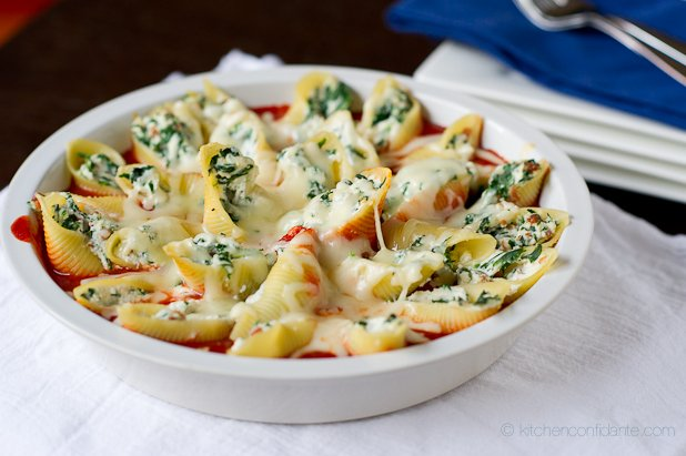 Spinach-Stuffed Pasta Shells