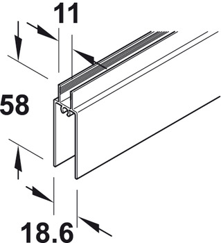 Aluminium frame profile, Bottom