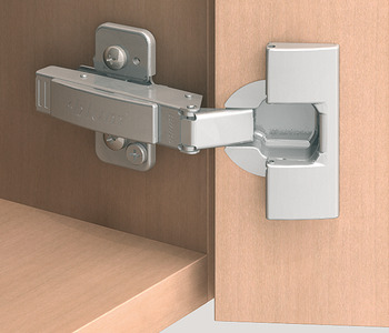 Concealed hinge, Clip Top 107°, inset mounting, with automatic closing spring