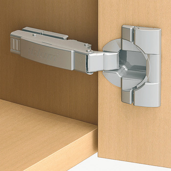 Concealed hinge, Clip Top 110°, full overlay mounting, with automatic closing spring