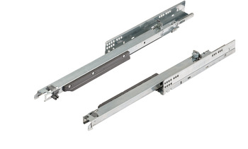 Concealed runners, Blum Movento 760 H and 766 H, full extension, steel, surface mounted, without snap-in coupling