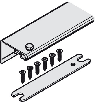 Connector connecting profile, For 1 pivot sliding door