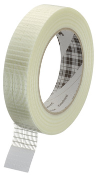 Cotton adhesive tape, for stabilising roller shutters