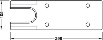 Cover plate, For TS 500 N, TS 500 NV, Geze