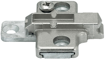 Cruciform mounting plate, Clip/Clip Top, for screw fixing with Euro screws