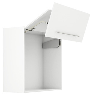 Double flap lift up fitting, Free fold for flaps made from wood or with aluminium frame
