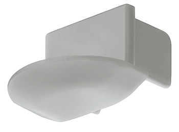 End cap, for aluminium profile – Loox, for recess mounting