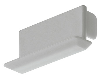 End cap, For profile for recess mounting, 14 mm, angled