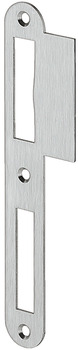 Flanged striking plate, for flush doors, 170 mm, straight