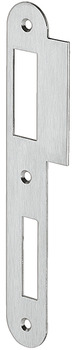 Flanged striking plate, for flush doors, 198 mm, straight