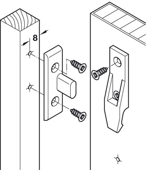 Frame component, for screw fixing to substructures
