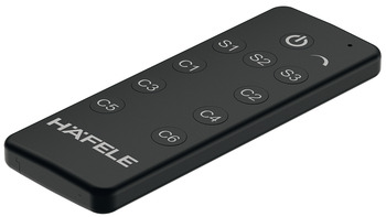 Häfele Loox Premium 6-channel radio remote control, With lighting scenario memory and dimmer function