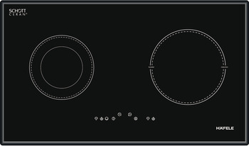 Hybrid hob, 1 inducton and 1 radiant cooking zones, touch control, 77 cm