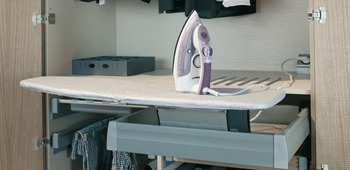 Ironing board, installation in drawer