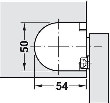 Lid hinge, Soft-close, for small lids