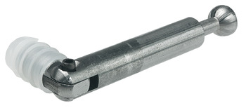 Mitre-joint connector, with joint, for installation on one side, polyamide sleeve