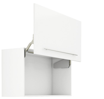 Parallel lift-up front fitting, Free up, for one-piece flaps made of wood, glass or with aluminium frame