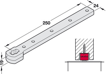 Rail, For double action doors, Geze