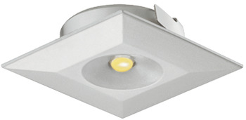Recess mounted light, square, LED 4003 – Loox, plastic, 350 mA