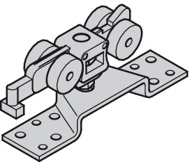 Running gear, 4 rollers, without soft and self closing mechanism