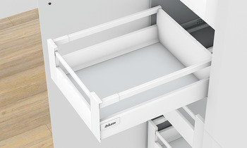 Side rail set, Tandembox antaro, for cabinet drawer sides and undersink drawer sides