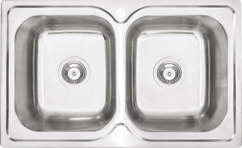 Sink, Stainless steel, HS-S7848, double bowl