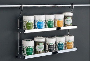 Spice rack, Steel railing system
