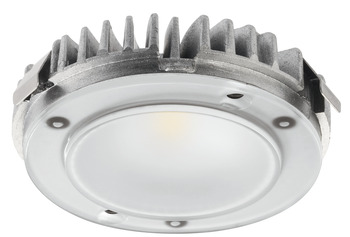 Surface mounted downlight, Häfele Loox LED 2025 round, complete set