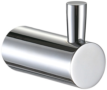 Towel hook, chrome plated polished, round series