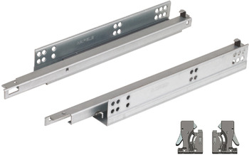 Undermounted soft closing runner, Single extension, load bearing capacity 30 kg