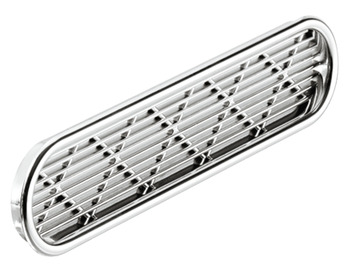 Ventilation grills, Plastic, oval, slotted