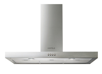 Wall-mounted hood, Stainless steel, 3 speed, button control, 70 cm