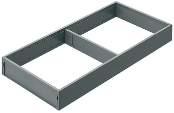 Wide frame, Blum Legrabox Ambia Line steel design
