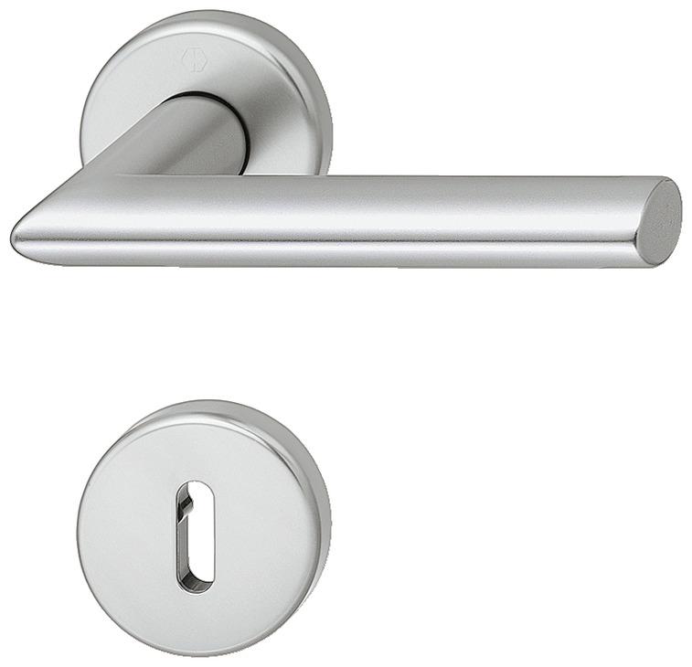 Door handle set aluminium Hoppe Stockholm 114042KV42KVS in