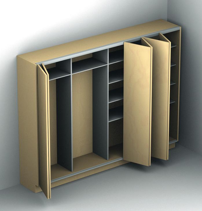 Sliding Door Fitting Silent Fold 40 Mf Flex Set In The