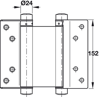 Double Action Spring Hinge Size 152 Mm Startec For Interior Doors