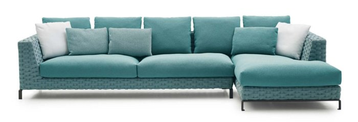 "the ""Ray"" sofa from B&B Italia is designed as the outdoor variant of the series"