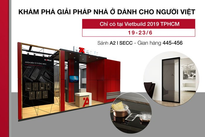 Häfele unveils new home solutions at Vietbuild 2019 HCMC