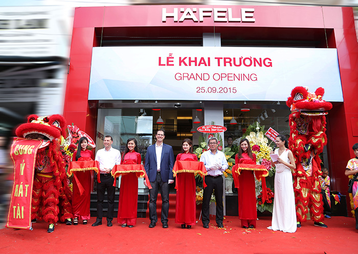 grand opening new Häfele showroom in hcmc