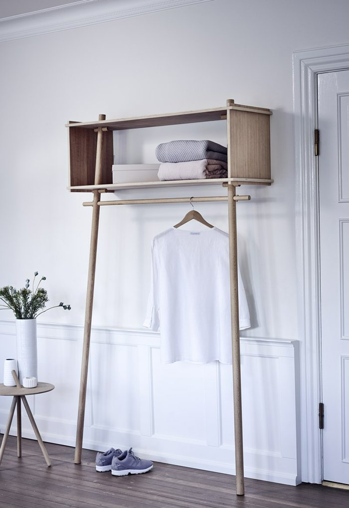 Töjbox is simple, minimalistic clothes storage solution made completely in oak