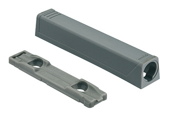 Adapter plate, Straight, for Tip-On push catch, long version