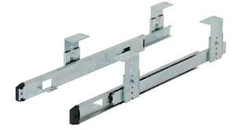 Ball bearing runners, Shelf and drawer runners, single extension, load bearing capacity up to 25 kg