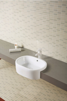 Basin, Semi recessed basin, SEINE