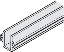 Bottom Channel, for Glass Interior Doors, Hawa-Junior 40/GP