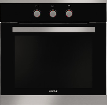 Built-in oven, knob control, triple layers glass, 60 cm, 65 litres