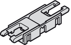 Clip connector, Häfele Loox5 for LED strip light monochrome 8 mm